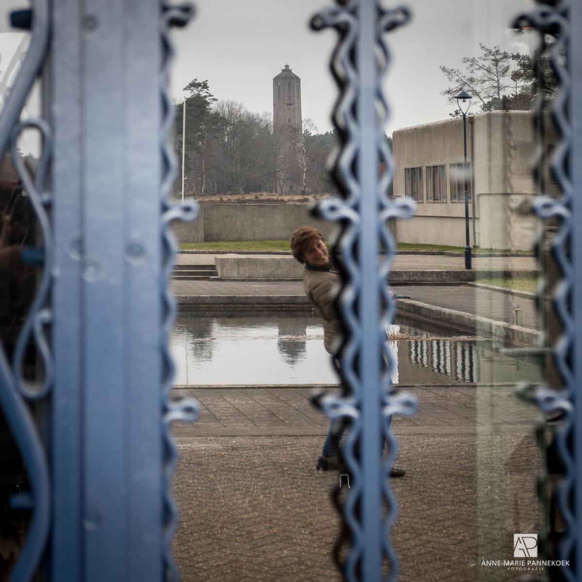 Radio Kootwijk deur spiegeling