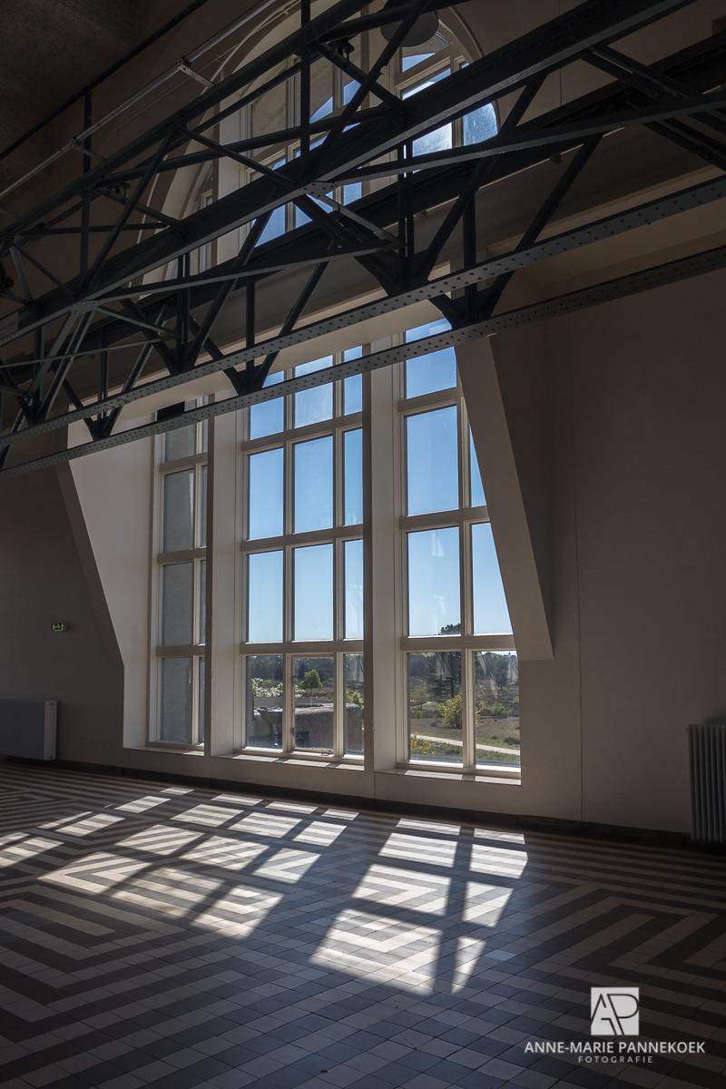 Radio Kootwijk ramen achterkant